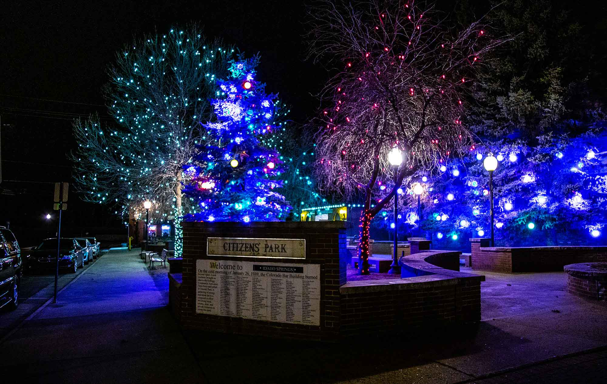 Citizens Park Tree Lighting Idaho Springs, Colorado