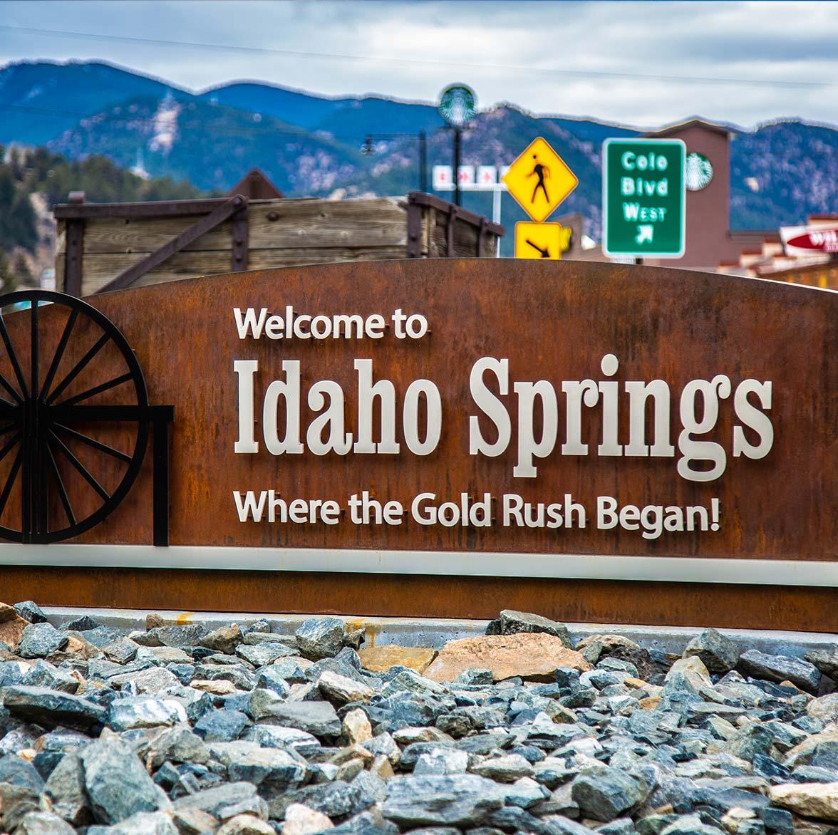 Idaho Springs, Colorado City Sign