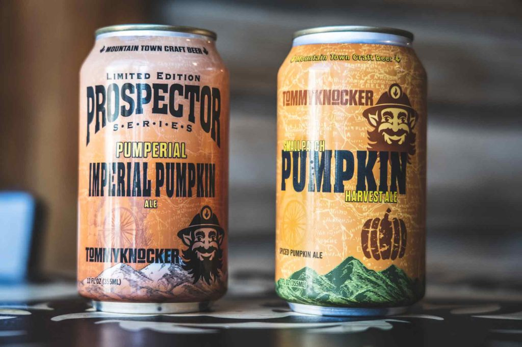 Tommyknocker Brewery in Idaho Springs - Pumpkin Beer cans for fall