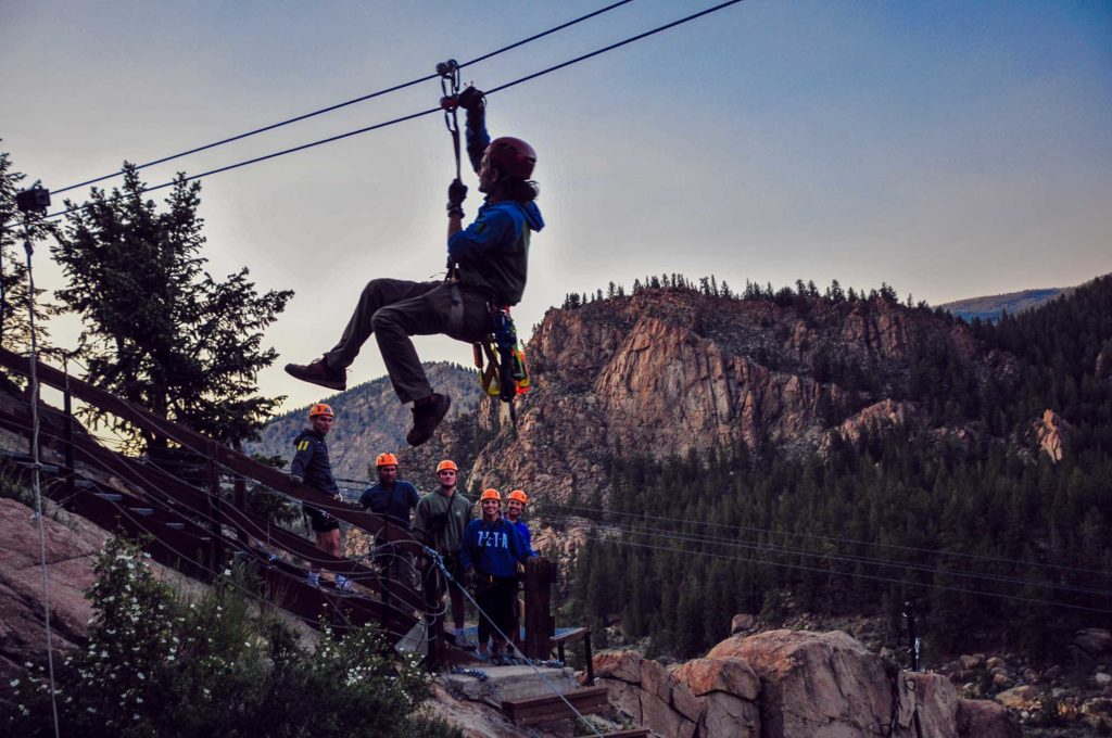 ava rafting and zipline - night zipline in Idaho Springs CO